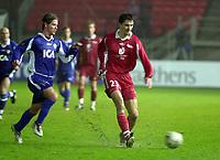 Fotball, Royal League, 11 November 2004, Brann - Halmstads BK, Resultat 1-0, Paul Scharner, Brann.