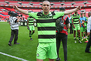 Forest Green Rovers Liam Noble(15) during the Vanarama National League Play Off Final match between Tranmere Rovers and Forest Green Rovers at Wembley Stadium, London, England on 14 May 2017. Photo by Shane Healey.