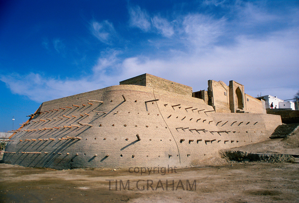 The Ark Citadel at Bukhara, Uzbekistan.  It is the residence of the Bukhara Khans. RESERVED USE - NOT FOR DOWNLOAD -  FOR USE CONTACT TIM GRAHAM