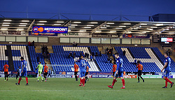The Peterborough United players leave the field dejected at full-time - Mandatory by-line: Joe Dent/JMP - 03/02/2018 - FOOTBALL - ABAX Stadium - Peterborough, England - Peterborough United v Southend United - Sky Bet League One