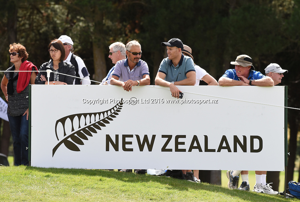New Zealand Tourism branding during Round 3 at The Hills during 2016 BMW ISPS Handa New Zealand Open. Saturday 12 March 2016. Arrowtown, New Zealand. Copyright photo: Andrew Cornaga / www.photosport.nz
