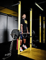 Shabazz Muhammad poses for a portrait in cross fit 702 gym in Las Vegas NV...Shabazz Muhammad is an American basketball player. He is a freshman at UCLA and was ranked one of the top rated basketball players in the class of 2012. He went to Bishop Gorman High school.