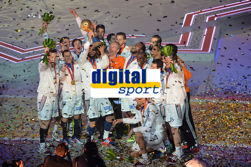 Ceremonie Protocolaire<br />Podium - Equipe de France <br />Champions du monde