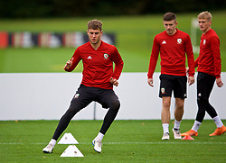 CARDIFF, WALES - Monday, October 15, 2018: Wales' Joe Rodon during a training session at the Vale Resort ahead of the UEFA Nations League Group Stage League B Group 4 match between Republic of Ireland and Wales. (Pic by David Rawcliffe/Propaganda)