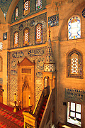 TURKEY, ISTANBUL, OTTOMAN Sokollu Mehmet Pasa mosque, Iznik tiles