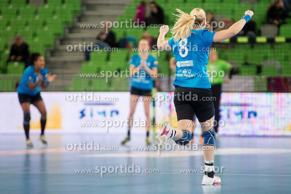 Tamara Mavsar of RK Krim Mercator during handball match between RK Krim Mercator (SLO) and HC Leipzig (GER) in 6th Round of Women's EHF Champions League 2014/15, on November 21, 2014 in Arena Stozice, Ljubljana, Slovenia. Photo by Urban Urbanc / Sportida