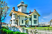 San Pedro CA; Point Fermin; lighthouse; Historic Site and Museum; Park; San Pedro; California.