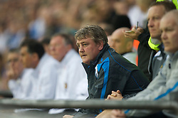 WIGAN, ENGLAND - Sunday, May 11, 2008: Wigan Athletic's manager Steve Bruce during the final Premiership match of the season at the JJB Stadium. (Photo by David Rawcliffe/Propaganda)
