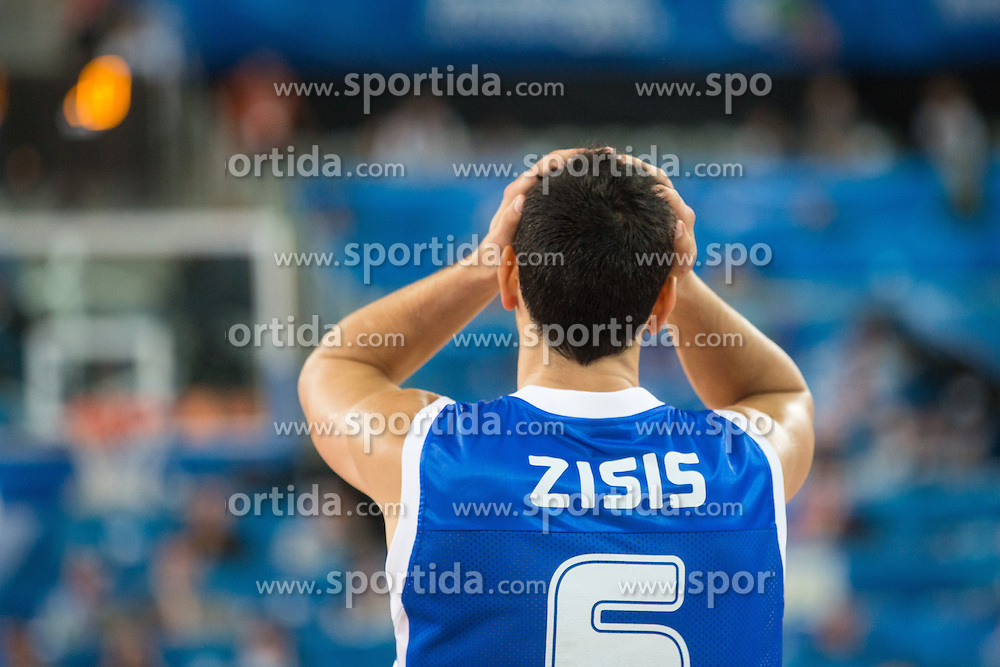 Sad Nikos Zisis #6 of Greece during basketball match between national team of Croatia and Greece at Eurobasket 2013 on September 16, 2013 in SRC Stozice, Ljubljana, Slovenia. (Photo By Matic Klansek Velej / Sportida.com)