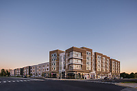 Exterior image of  the Daley Apartments in Rockville MD by Jeffrey Sauers of Commercial Photographics, Architectural Photo Artistry in Washington DC, Virginia to Florida and PA to New England