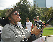 September 19, 2010 - Richard F. Troise watches his kite as it flies above Boston Common on Saturday. Photo by Lathan Goumas, COM 2011.