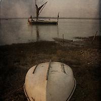 An old sailing boat at Eiken, Suffolk, England