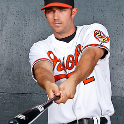 February 26, 2011; Sarasota, FL, USA; Baltimore Orioles shortstop J.J. Hardy (2) poses during photo day at Ed Smith Stadium.  Mandatory Credit: Derick E. Hingle