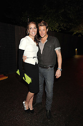 TARA PALMER-TOMPKINSON and DUNCAN JAMES at the annual Serpentine Gallery Summer Party in Kensington Gardens, London on 9th September 2008.