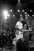 Eric Clapton jams with Sly and Robbie at the Island 25 party - London 1987