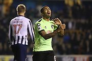 Bournemouth Forward Callum Wilson (13) unhappy during the The FA Cup 3rd round match between Millwall and Bournemouth at The Den, London, England on 7 January 2017. Photo by Matthew Redman.