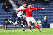 Charlton Athletic midfielder Albie Morgan (19) in action during the EFL Sky Bet Championship match between Preston North End and Charlton Athletic at Deepdale, Preston, England on 18 January 2020.