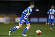 James Tilley during the Barclays U21 Premier League match between U21 Brighton and Hove Albion and U21 Blackburn Rovers at the Checkatrade.com Stadium, Crawley, England on 4 April 2016.