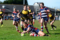 Poppy Cleall of Bristol Ladies scores a try  - Mandatory by-line: Dougie Allward/JMP - 26/03/2017 - RUGBY - Cleve RFC - Bristol, England - Bristol Ladies v Wasps Ladies - RFU Women's Premiership