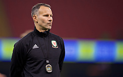 CARDIFF, WALES - Wednesday, October 10, 2018: Wales' manager Ryan Giggs during a training session at the Principality Stadium ahead of the International Friendly match between Wales and Spain. (Pic by David Rawcliffe/Propaganda)