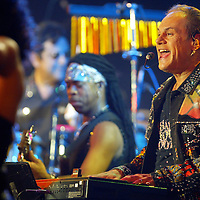 "(PFEATURES) Asbury Park 8/17/2004 KC and the Sunshine band on stage during the PBS taping of ""My Music: Get Down Tonight: The Best of 70's Disco and Dance Music at Convention Hall.  Michael J. Treola Staff Photographer.....MJT"