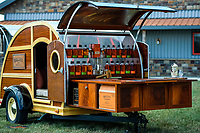 The Bulleit Frontier Whiskey Woody Trailer sits on display during the ribbon cutting event.