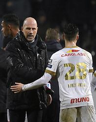 December 23, 2018 - France - Philippe Clement head coach of Genk and Bryan Heynen midfielder of Genk (Credit Image: © Panoramic via ZUMA Press)