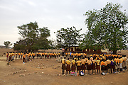 Michael Zoogah, head teacher, takes the morning assembly at Tonga Junior High School in Talensi Nabdam, Ghana.