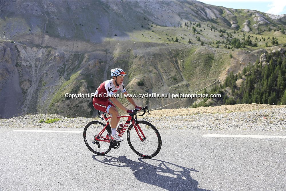 Maurits Lammertink (NED) Katusha Alpecin climbs Col d'Izoard during Stage 18 of the 104th edition of the Tour de France 2017, running 179.5km from Briancon to the summit of Col d'Izoard, France. 20th July 2017.<br /> Picture: Eoin Clarke | Cyclefile<br /> <br /> All photos usage must carry mandatory copyright credit (&copy; Cyclefile | Eoin Clarke)