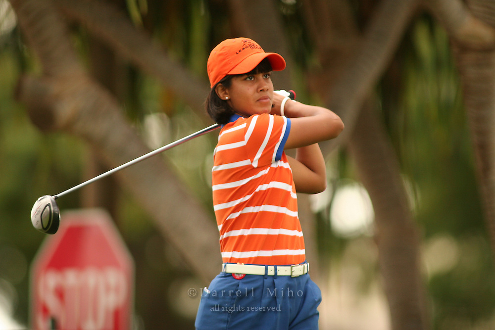 Feb 24, 2006; Kapolei, HI, USA; Julieta Granada tees off during the 2nd round of the LPGA Fields Open at Ko Olina Resort...Photo Credit: Darrell Miho.Copyright © 2006 Darrell Miho