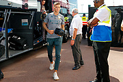 Leeds United defender Ben White (5), on loan from Brighton & Hove Albion, arriving during the EFL Sky Bet Championship match between Stoke City and Leeds United at the Bet365 Stadium, Stoke-on-Trent, England on 24 August 2019.