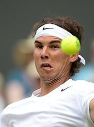 © Licensed to London News Pictures. 24/06/2014. London, UK . Wimbledon Tennis Championships 2014<br /> Day 2. Rafael Nadal, ESP during match v Martin Klizan, SVK.  Photo credit : Mike King/LNP