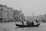 Italy. Venice. Venise fog day on Grand Canal  Venice - Italy  / brume  sur le grand canal  Venise - Italie