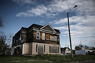 OHIO, Toledo, October 27, 2012:  Abandoned house in North-East Toledo. ALESSIO ROMENZI