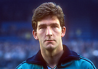 Norman Whiteside, Manchester United & N Ireland footballer, April, 1986, Windsor Park, 19860410NW1<br />
