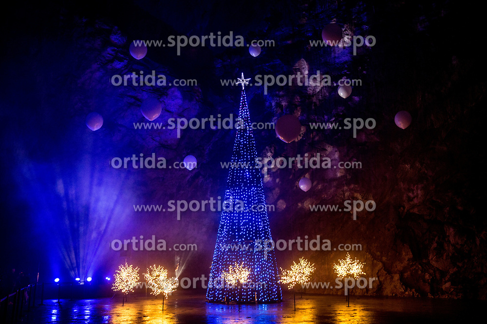 Christmas Tree during the Living Nativity Scenes inside Postojna Cave, on December 21, 2017 in Postojna, Slovenia. Living Nativity Scene is staged along a 5 km long path through the world-famous Postojna Cave in Slovenia with some 200 people performing and working. Photo by Vid Ponikvar / Sportida