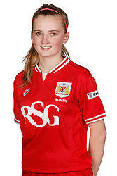 Poppy Wilson of Bristol City Women poses for a headshot - Mandatory byline: Rogan Thomson/JMP - 21/02/2016 - FOOTBALL - Stoke Gifford Stadium - Bristol, England - Bristol City Women Team Photos.