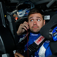 Ricky Stenhouse, Jr (17) hangs out in the garage during practice for the Gander Outdoors 400 at Dover International Speedway in Dover, Delaware.