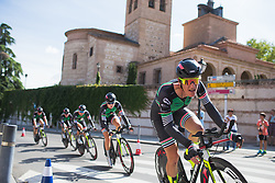 Natalie van Gogh (NED) of Parkhotel Valkenburg - Destil Cycling Team leads her team in the final meters of Stage 1 of the Madrid Challenge - a 12.6 km team time trial, starting and finishing in Boadille del Monte on September 15, 2018, in Madrid, Spain. (Photo by Balint Hamvas/Velofocus.com)