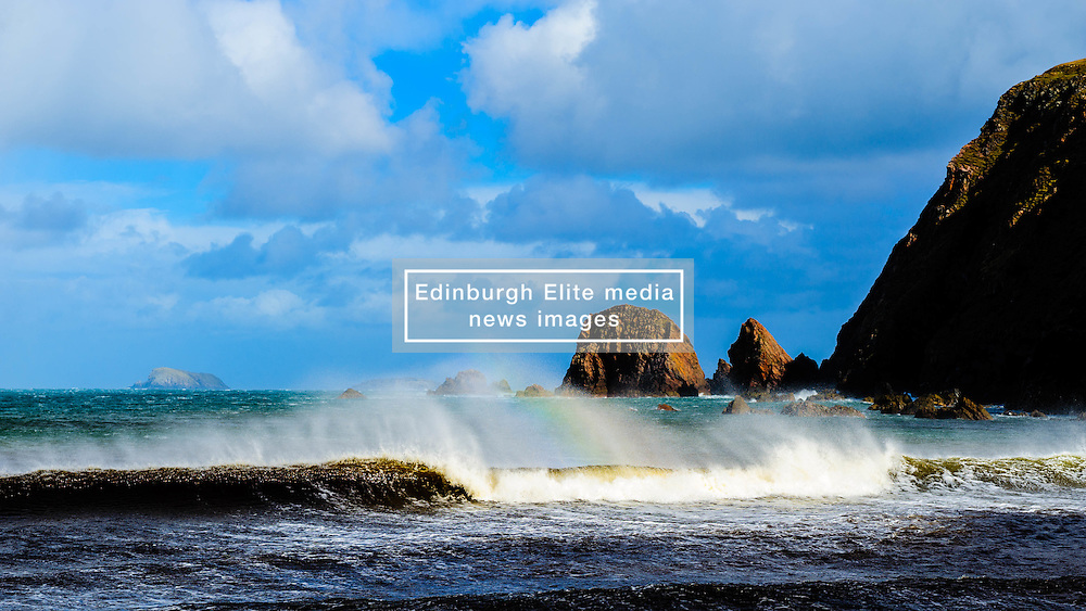 Sea stacks on the beach near Aird Uig, Isle of Lewis, Outer Hebrides, Scotland<br /> <br /> (c) Andrew Wilson | Edinburgh Elite media