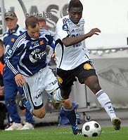 Fotball Tippeligaen 01.06.08 Rosenborg ( RBK ) - Viking, <br /> Alexander Tettey og Nicolai Stockholm,<br /> Foto: Carl-Erik Eriksson, Digitalsport