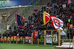 """Foto Filippo Rubin<br /> 24/02/2018 Bologna (Italia)<br /> Sport Calcio<br /> Bologna - Genoa - Campionato di calcio Serie A 2017/2018 - Stadio """"Renato Dall'Ara""""<br /> Nella foto: I TIFOSI DEL GENOA<br /> <br /> Photo by Filippo Rubin<br /> February 24, 2018 Bologna (Italy)<br /> Sport Soccer<br /> Bologna vs Genoa - Italian Football Championship League A 2017/2018 - """"Renato Dall'Ara"""" Stadium <br /> In the pic: GENOA SUPPORTERS"""