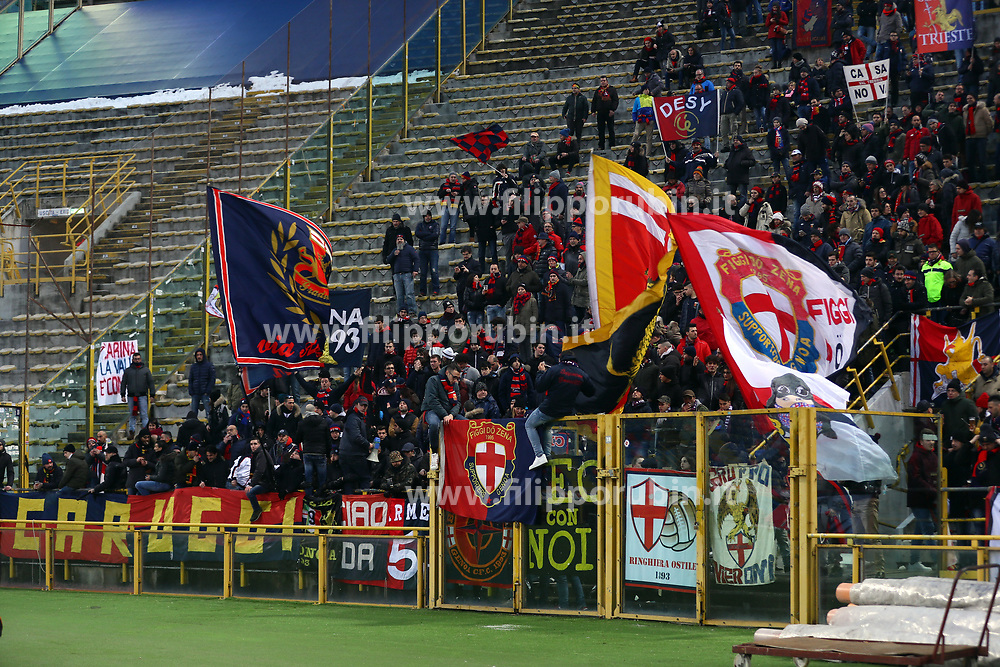 "Foto Filippo Rubin<br /> 24/02/2018 Bologna (Italia)<br /> Sport Calcio<br /> Bologna - Genoa - Campionato di calcio Serie A 2017/2018 - Stadio ""Renato Dall'Ara""<br /> Nella foto: I TIFOSI DEL GENOA<br /> <br /> Photo by Filippo Rubin<br /> February 24, 2018 Bologna (Italy)<br /> Sport Soccer<br /> Bologna vs Genoa - Italian Football Championship League A 2017/2018 - ""Renato Dall'Ara"" Stadium <br /> In the pic: GENOA SUPPORTERS"