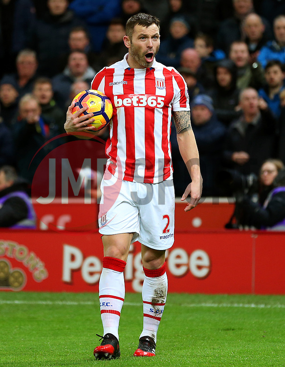 Phillip Bardsley of Stoke City reacts - Mandatory by-line: Matt McNulty/JMP - 01/02/2017 - FOOTBALL - Bet365 Stadium - Stoke-on-Trent, England - Stoke City v Everton - Premier League