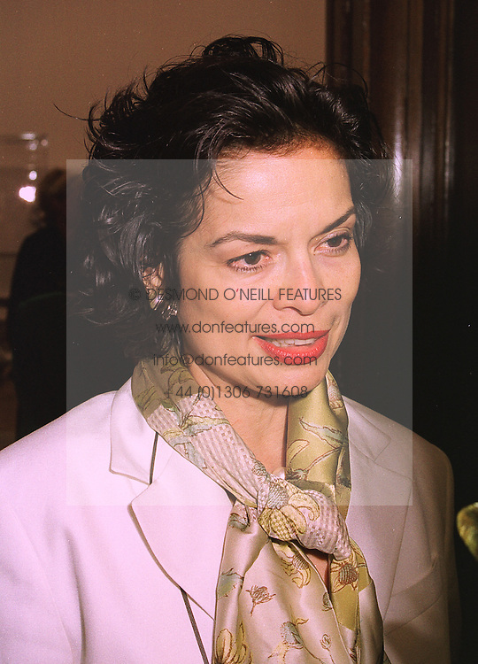 MRS BIANCA JAGGER former wife of Rolling Stone Mick Jagger,  at an exhibition in London on 15th September 1998.MKB 33