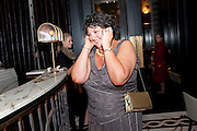 AMANDA RAYNER, Massimo's restaurant at the Corinthia Hotel, Whitehall  host the after party  for 'Claire Rayner's benefit show' 5 June 2011. <br /> <br />  , -DO NOT ARCHIVE-© Copyright Photograph by Dafydd Jones. 248 Clapham Rd. London SW9 0PZ. Tel 0207 820 0771. www.dafjones.com.
