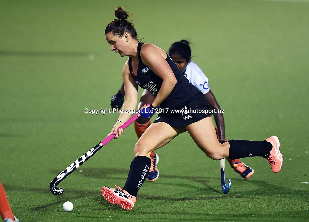 Ella Gunson.<br /> Vantage Black Sticks Women vs India. International Hockey. Rosa Birch Park, Pukekohe, Auckland, New Zealand. Wednesday 17 May 2017 &copy; Copyright Photo: Andrew Coranga / www.photosport.nz