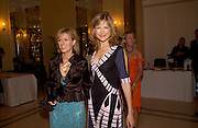 Katie Derham and Andrea Catherwood, Bruce Oldfield celebrates the publication of 'Rootless' party in aid of Crimestoppers. Claridges. 22 September 2004. SUPPLIED FOR ONE-TIME USE ONLY-DO NOT ARCHIVE. © Copyright Photograph by Dafydd Jones 66 Stockwell Park Rd. London SW9 0DA Tel 020 7733 0108 www.dafjones.com