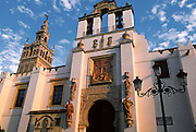 SPAIN, ANDALUSIA, SEVILLE Cathedral; Pardon Gate, 'Mudejar'