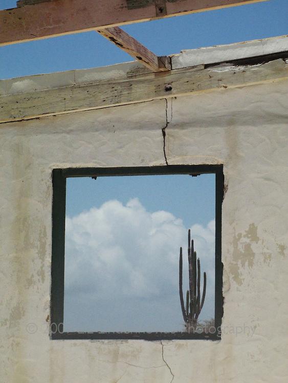 Looking through window at Arikok National Park, Aruba